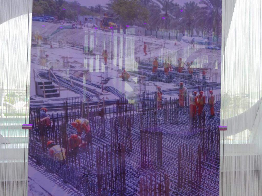 ドバイフレーム建設中