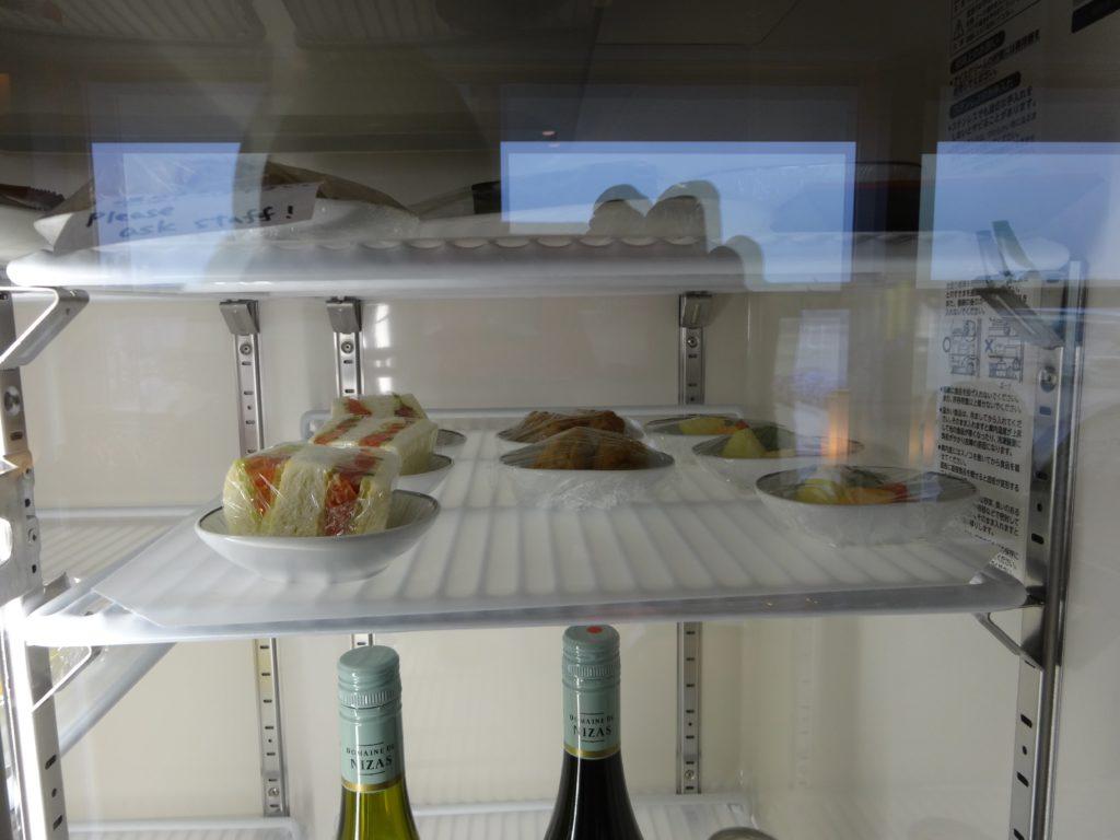 タイ国際航空ラウンジ冷蔵庫
