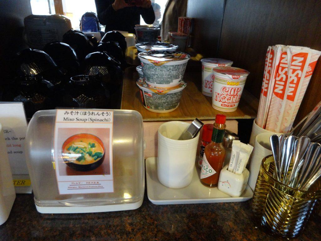 タイ国際航空ラウンジカップ麺